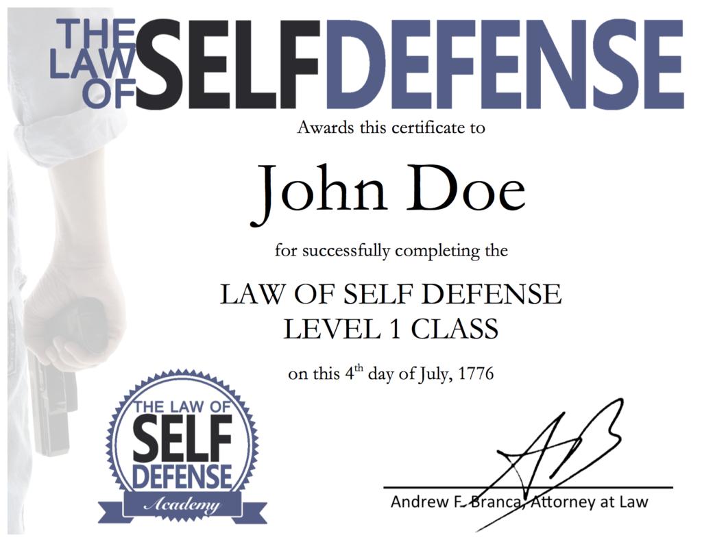 Singular Online Class Certificate